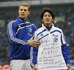 東日本大震災後に内田篤人がメッセージ